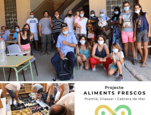 Alimentos frescos para 111 familias del Baix Maresme