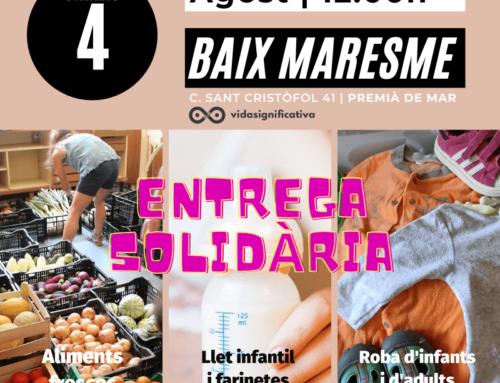 Entrega de alimentos frescos, leche infantil y ropa – Baix Maresme