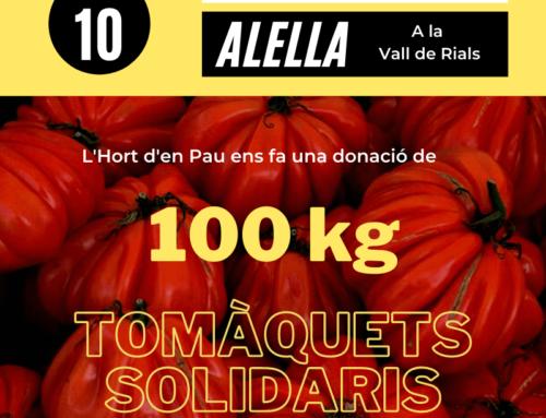 Donación de 300 kg de tomates en Vilassar de Mar