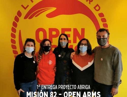 1ª Entrega a Open Arms, ¡hecha!